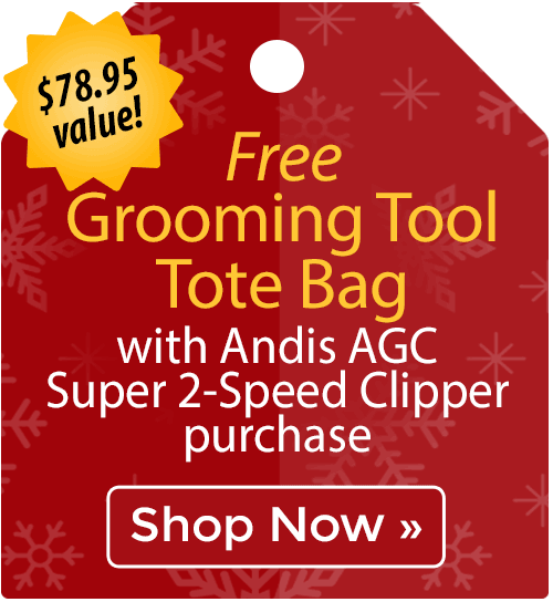 Free Grooming Tool Tote Bag with Andis AGC Super 2-Speed Clipper purchase