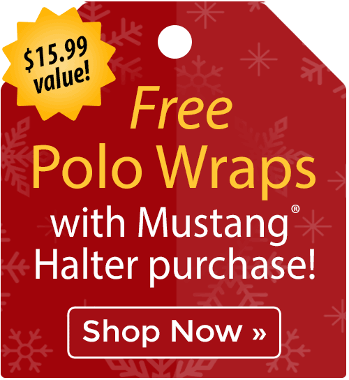 Free Polo Wraps with Mustang® halter purchase