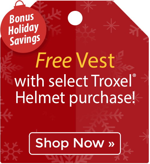Free Safety Vest with select Troxel® Helmet purchase!