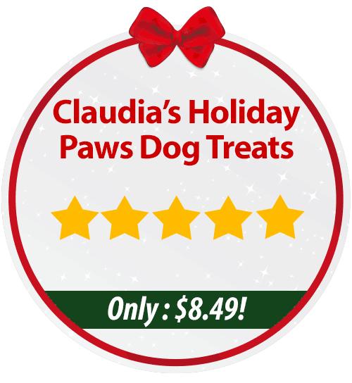 Claudia's Holiday Paws Dog Treats